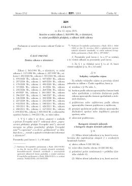ZÁKON ze dne 12. srpna 2015, kterým se mění zákon č. 563/1991
