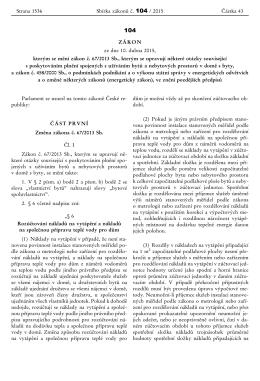 ZÁKON ze dne 10. dubna 2015, kterým se mění zákon č. 67/2013