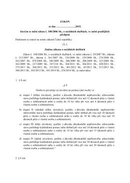 2015, kterým se mění zákon č. 108/2006 Sb., o sociálních službách