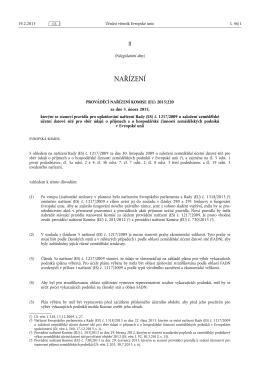 PROVÁDĚCÍ NAŘÍZENÍ KOMISE (EU) 2015/ 220 - ze dne