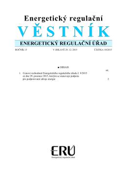 10/2015 - Energetický regulační úřad