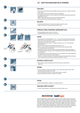 PDF návod na instalaci