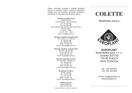 COLETTE - EUROPLANT šlechtitelská, spol. s ro