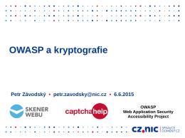 OWASP a kryptografie