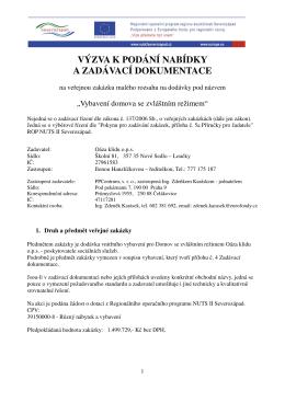 Výzva + Zadávací dokumentace ()