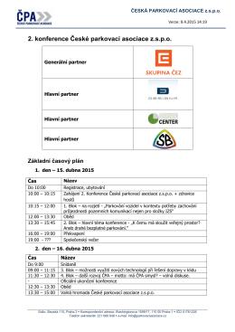 2. konference České parkovací asociace z.s.p.o.
