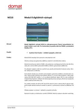 M210 Modul 8 digitálních výstupů