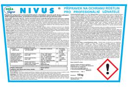 nivus přípravek na ochranu rostlin pro profesionální uživatele