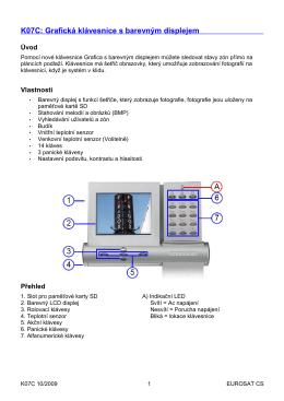 K07C: Grafická klávesnice s barevným displejem