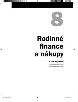 Ukázková kapitola 8 - Rodinné finance a nákupy