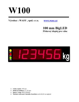 Návod W100 - Wasy spol. s r.o.