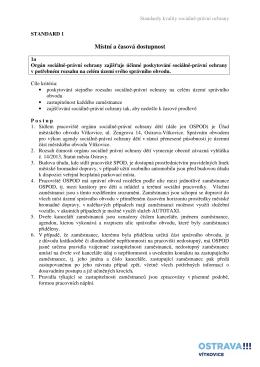 Standard č. 1 - Městský Obvod Ostrava Vítkovice