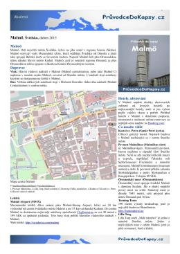 Malmö - Průvodce do kapsy
