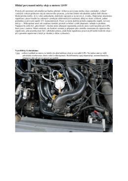 Hlídač povysunutí měrky oleje u motoru 1 8