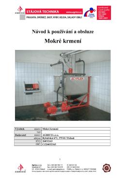 Tekuté krmení - návod na používání a obsluhu