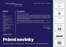 05-2015 Právní novinky - Havel, Holásek & Partners