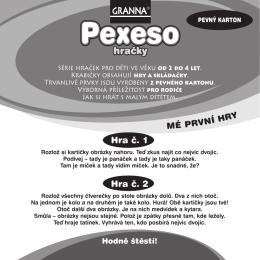 Česká pravidla ke hře Pexeso Hračky
