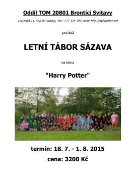 Propozice a přihláška na LT Sázava 2015