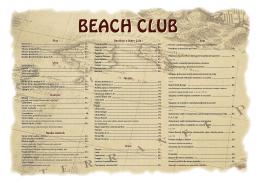 Prohlédněte si nápojový lístek Beach Clubu Znojmo.
