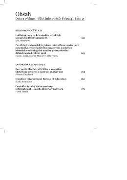 PDF článku ke stažení… - Data a výzkum