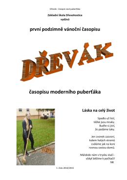 Časopis Dřevák, 1. číslo 2014/2015