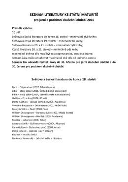 seznam literatury