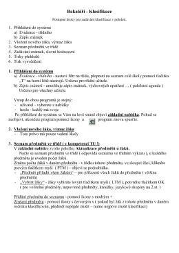 Bakaláři - Klasifikace