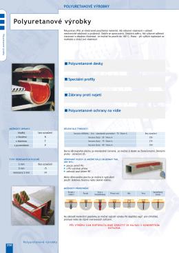 23. Polyuretanové výrobky