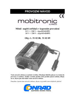 PROVOZNÍ NÁVOD - produktinfo.conrad.com