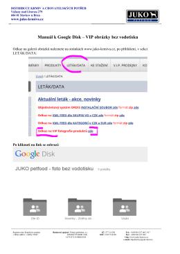 Manuál Google Disk