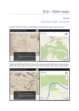 D16 – Důlní mapy