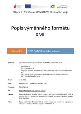 Popis výměnného formátu XML v3.1
