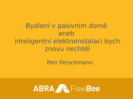 Petr Fershman - Inteligentní elektroinstalace