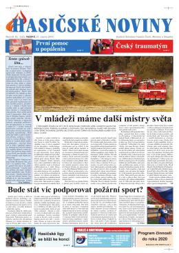 Hasičské noviny č. 16, 21. srpna 2015