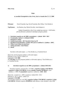 Zápis ZO č. 10_2008