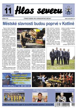 Městské slavnosti budou poprvé v Kotlině
