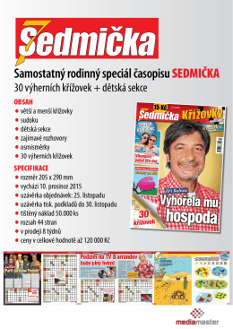 10. 12. 2015 speciál časopisu sedmička - křížovky