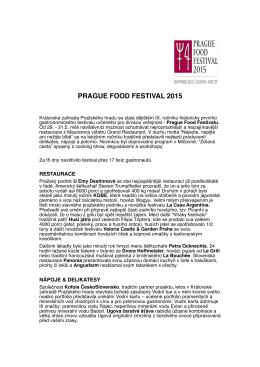 PRAGUE FOOD FESTIVAL 2015