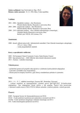 profil ČSAC - Česká společnost pro analytickou cytometrii