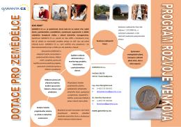 Leták PRV_rozvoj zemědělských podniků (pdf