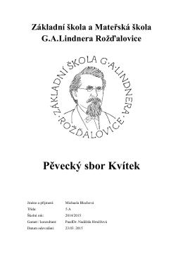Michaela Blechová - Základní škola a Mateřská škola Rožďalovice