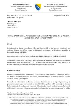 Final Report - Institucija ombudsmena/ombudsmana za ljudska