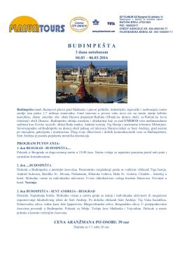 Budimpešta - Planumtours