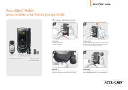 Accu-Chek® Mobile – izmerite šećer u krvi kada i gde god želite.