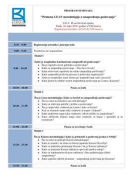 Primena LEAN metodologije u unapređenju poslovanja