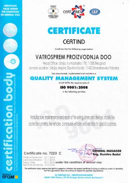 ISO 9001 eng - Vatrosprem