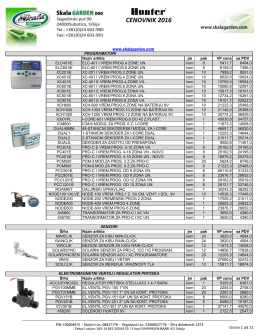 Katalog i cenovnik 2016. - Navodnjavanje i zalivanje