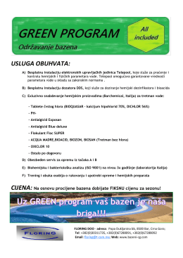 Green program 2016 - Bazeni Crna Gora