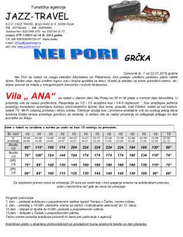 Vila Ana - Nei Pori