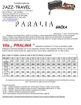Vila Pralina Paralia